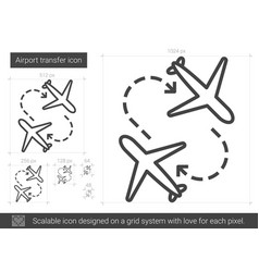 Airport transfer line icon vector