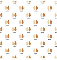 almond pattern seamless vector image