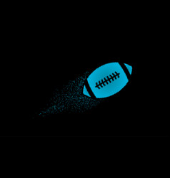 american football halftone ball flying with vector image