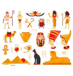 Ancient egyptian culture set vector