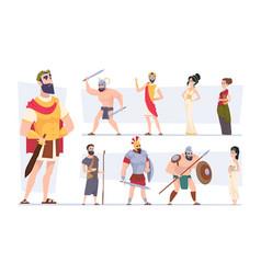 Ancient rome authentic clothes rome vector