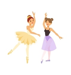 Ballerina dancer girl vector image