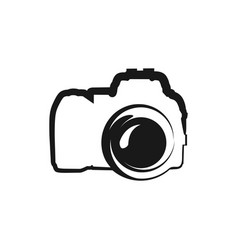 black icon of camera isolated on white vector image