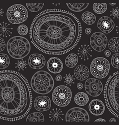 black lace yoga mandala floral pattern vector image