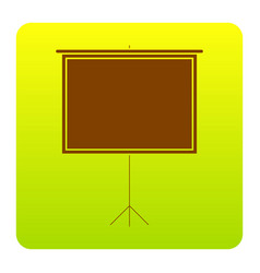 Blank projection screen brown icon at vector