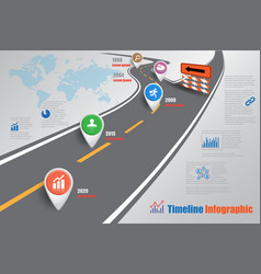 Business road map timeline infographic template vector