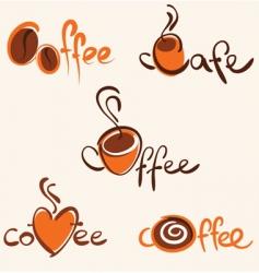 Cafe identity vector