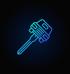 Car key concept blue icon vector