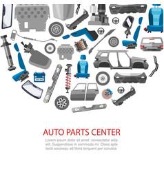 Car spares and auto parts service vector