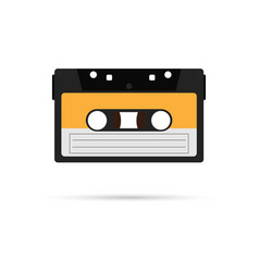 Cassette icon with shadow vector