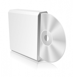 cd box template vector image