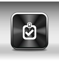 checkmark icon test form mark tick check choice vector image
