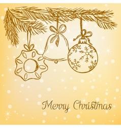 Christmas balls doodle vector