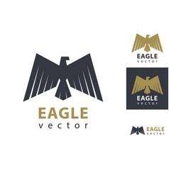 classic eagle logo design vector image