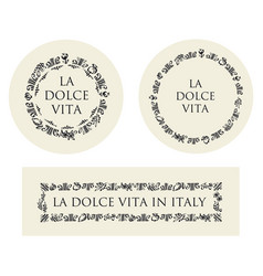 concept hand drawn italian food elements vector image