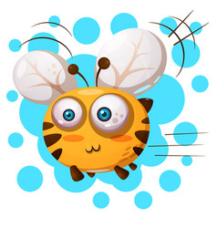 cute bee characters cartoon vector image