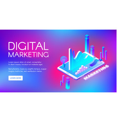 Digital marketing isometric vector