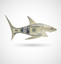 Dollar shark vector image