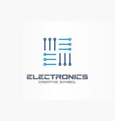 electronics creative symbol concept digital vector image