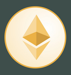 ethereum icon for internet money vector image