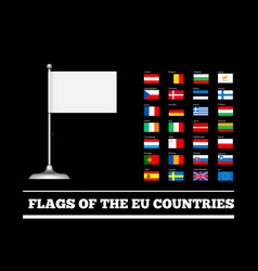 flags of the countries of the european union eu vector image