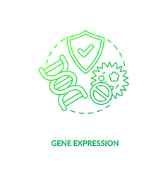 Gene expression dark green concept icon vector