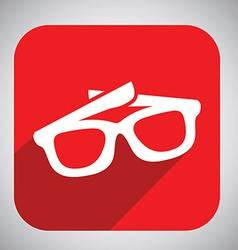 glasses button design vector image