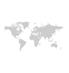 Gray map world with countries borders vector