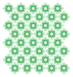 green geometric ornament seamless pattern vector image
