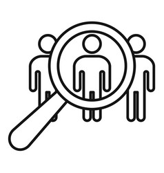 Group recruitment icon outline style vector