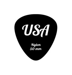 Guitar pick icon in flat style vector