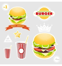 Hamburger Set vector