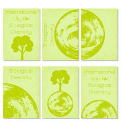 International day for biological diversity planet vector