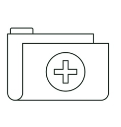 Isolated file of medical care design vector