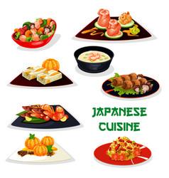japanese restaurant dinner icon of asian cuisine vector image