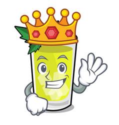 King mint julep mascot cartoon vector
