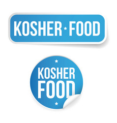 Kosher food label sticker vector