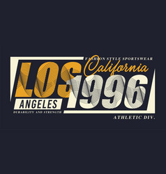 la 1996 typography design t-shirt graphics vector image