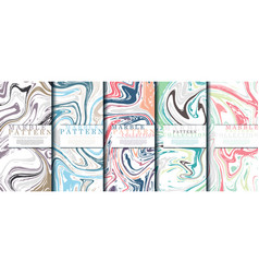 marble pattern collection abstract pop background vector image