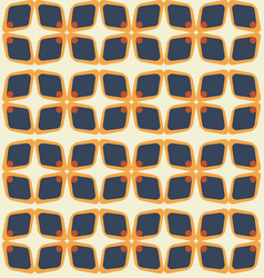 Midcentury geometric seamless background abstract vector