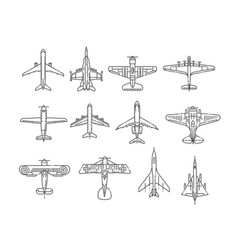 modern types planes large and small passenger vector image