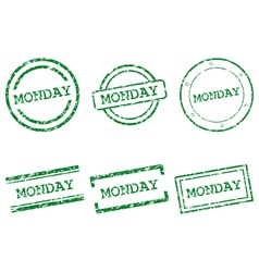 Monday stamps vector