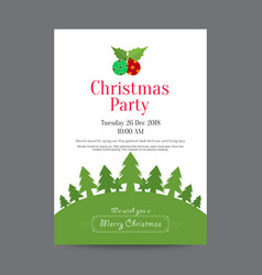 Neat christmas invitation poster with christmas vector