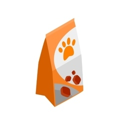 Packing of dog food icon isometric 3d style vector image