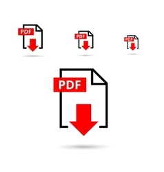 PDF file download icon vector