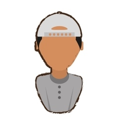 people young man with hat icon image vector image