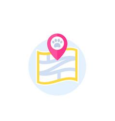 pet location icon vector image