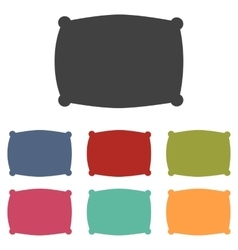Pillow icons set vector