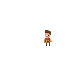 Pixel art guitar player vector
