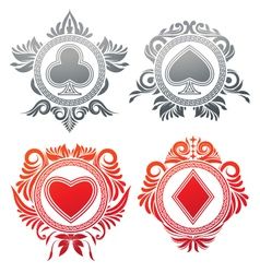 Playing Card Circle Ornament vector